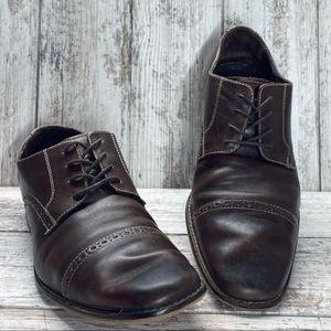 Florsheim Brown Cap Toe Oxford Shoes